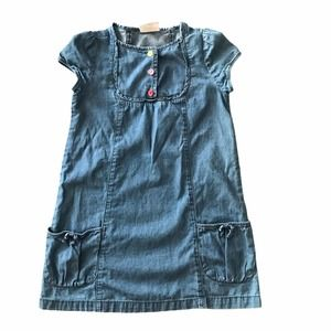 Crazy 8 Chambray Dress With Pockets Size 4T